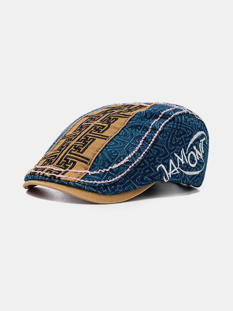 Men's Hat Beret Cap Cowboy Beret Color Matching Hat