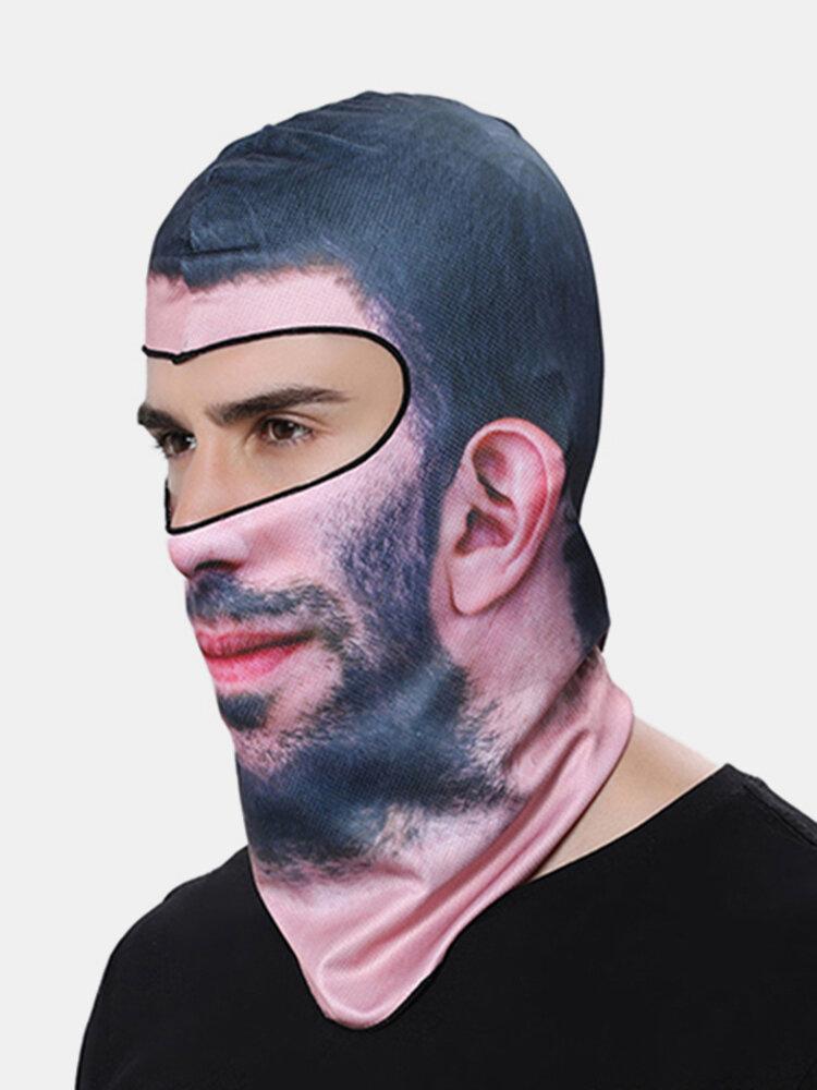 メンズユニセックスオートバイ防塵アンチUVフェイスマスク帽子屋外スキー乗馬防風フードキャップ