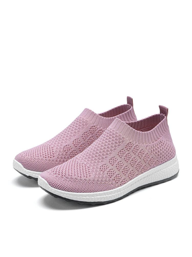 Women Elastic Casual Sock Walking Shoes Comfy Lightweight Running Shoes