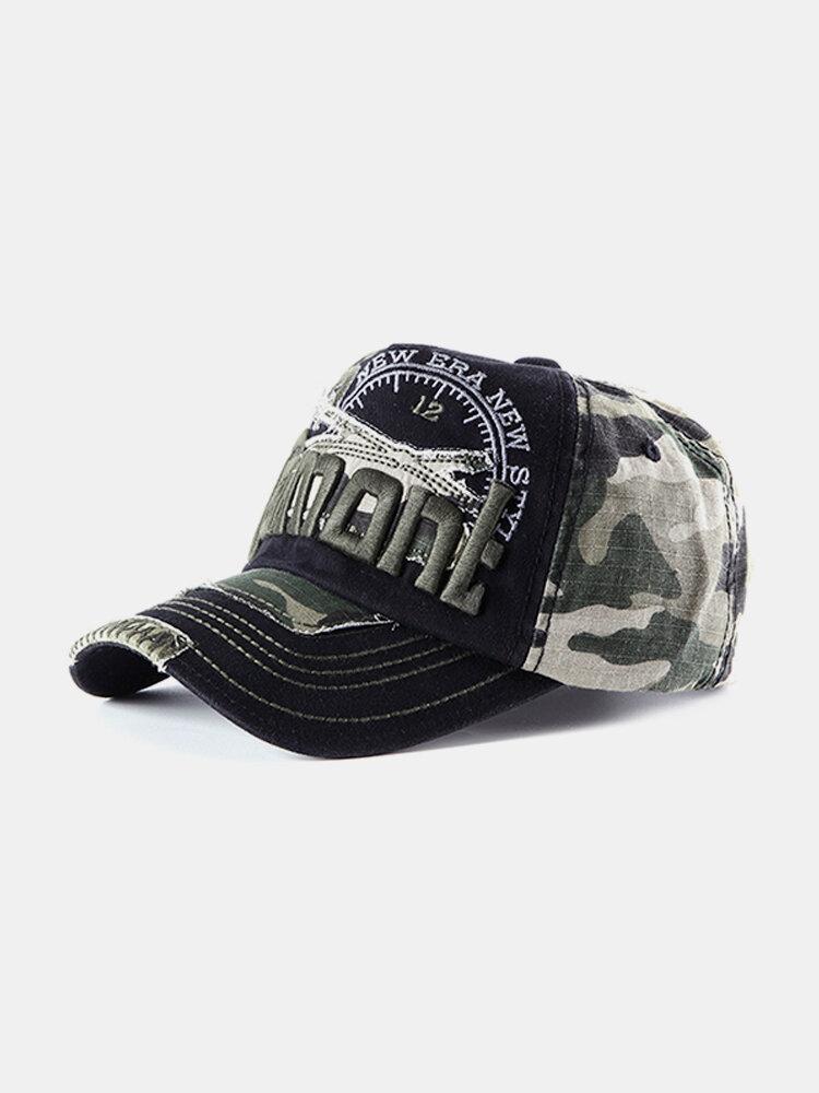Men Women Cotton Camouflage Embroidery Baseball Cap Outdoor Sunshade Hip-hop Hat
