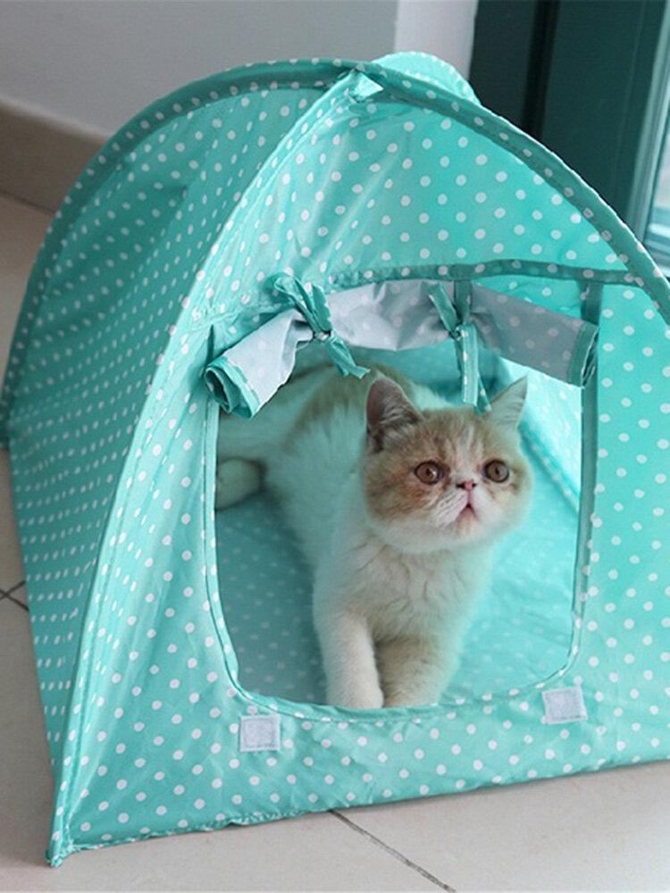 Pet Mini Nylon Camp Zelt Bett Welpe Spielhaus Sun Shelter Katze Für Travel Garden