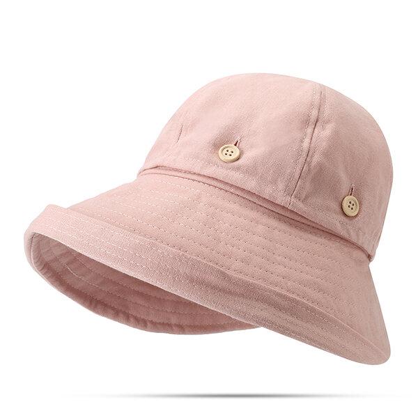 Womens Summer Foldable Sunscreen Cloche Round Bucket Cap Adjustable Fisherman Hats Dual Use