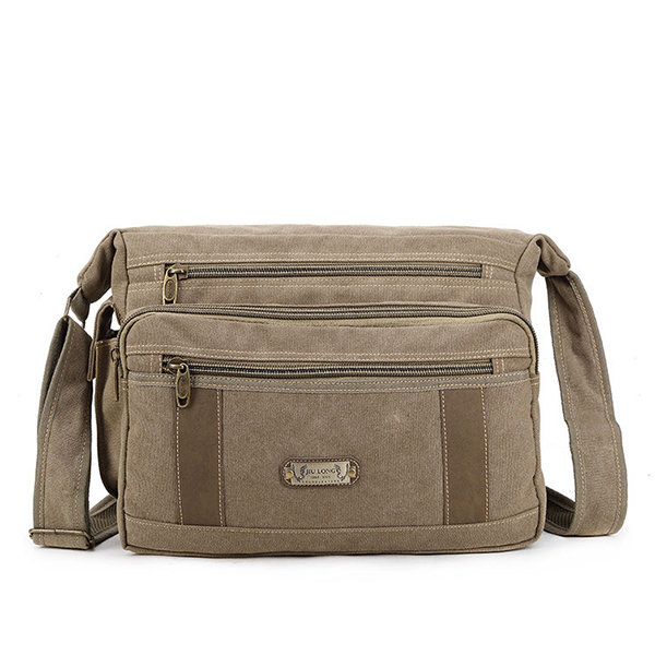 Newchic coupon: Canvas Multi-function Outdoor Travel Casual Crossbody Bag