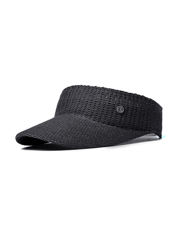 Women Wool Knit Sunshade Baseball Cap Outdoor Sports Casual Empty Top Solid Color Hat