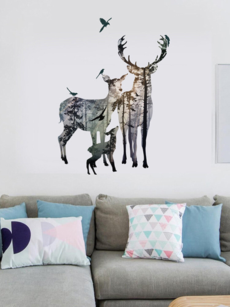 Creative Elk Selbstklebende Schlafzimmer Wohnzimmer Aufkleber Wand Kunst Home Decor