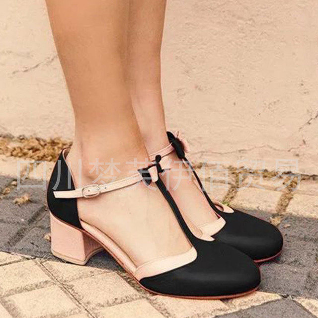 New Season Hollow Buckle With High Heel Sandals Large Size Female 40-43 Sandals