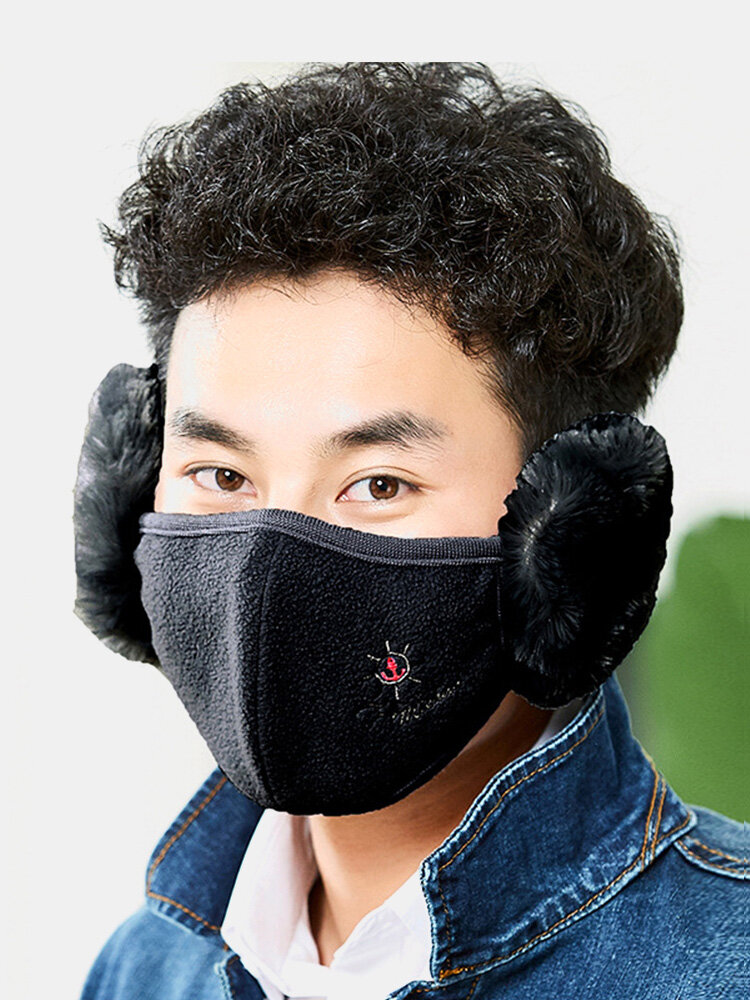 Men Warm Winter Cotton Reusable Earmuff Mouth Muffs Mask Anti Pollution Dustproof Respirator
