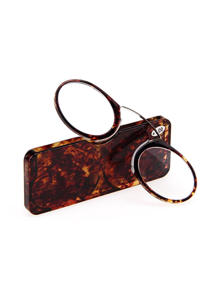 Mini Ultralight Clip Nose Reading Glasses Simple Portable Reading Glasses Eyewear