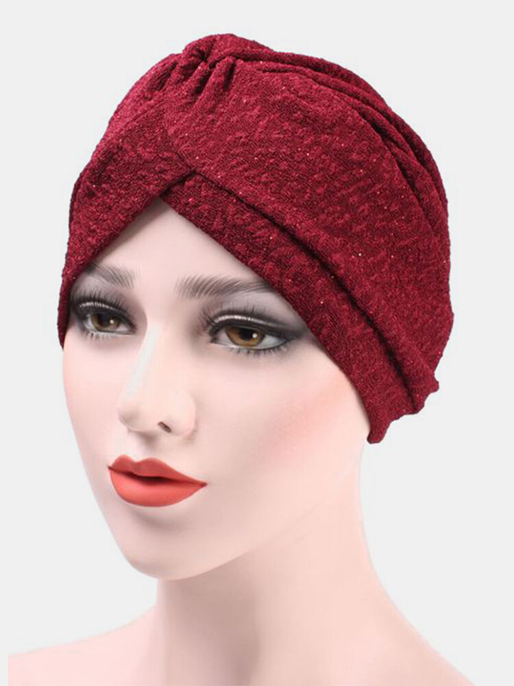 Women's Turban Chemotherapy Cap Flexible Countryside Floral Twist Beanie Cap