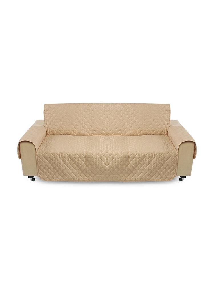 Sofá para mascotas de color caqui Cojín protector para sofá extraíble con correa Impermeable 3 plazas