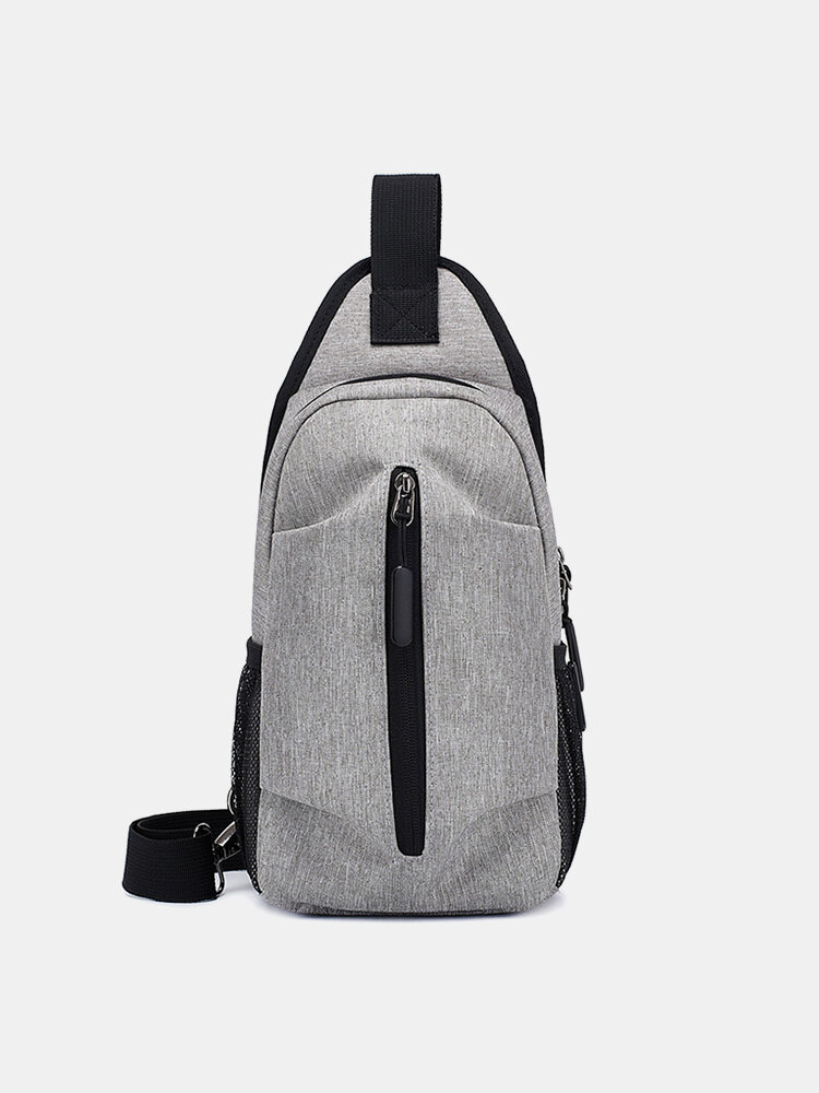 Casual Oxford Large Capacity Cloth Lightweight Waterproof Chest Bag