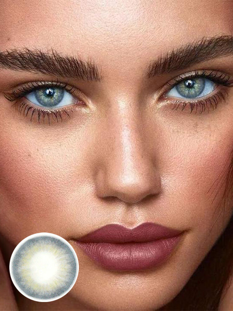 1 PC (For One Eye) DNA Blue Gray Prescription Yearly Colored Contact Lens
