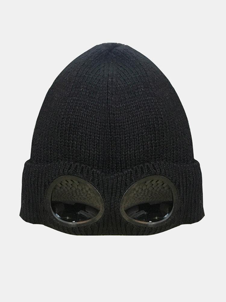 Sunglasses Ski Cap Knit Warm Wool Small Cap Bean