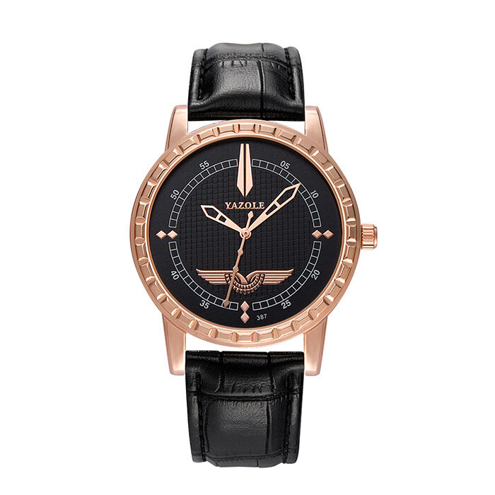Men's Business Fashion Casual Watch Luxury Men Leather Quartz Watch Military Clock Gift for Him