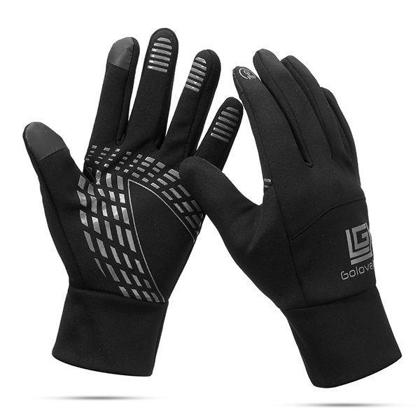 Men Women Warm Waterproof Windproof Touch Screen Ski Cycling Gloves Full Finger Outdoor Fleece Glove