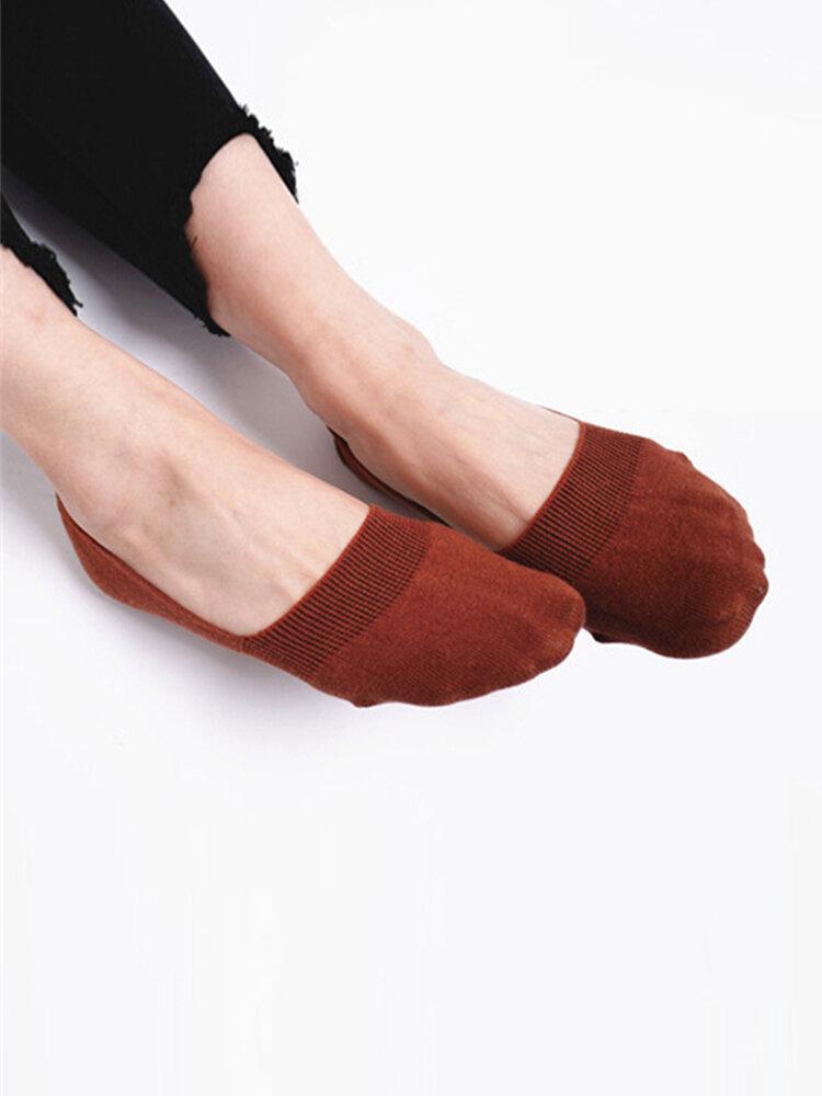 Women Cotton Antiskid Invisible Boat Sock Summer Thin Breathable Short Ankle Socks