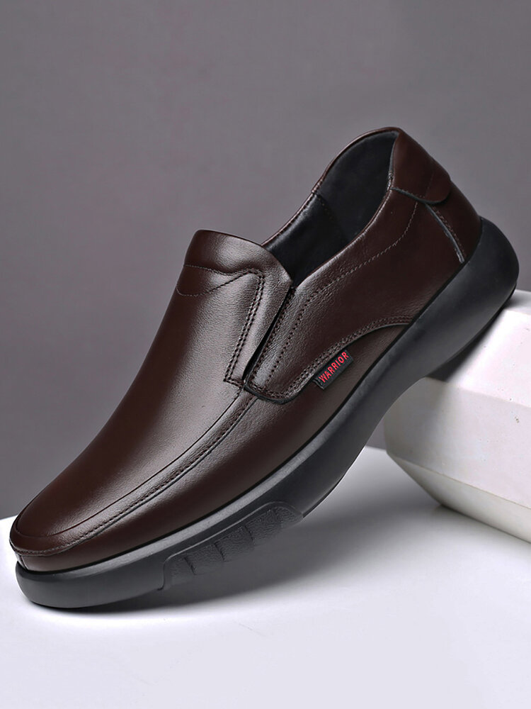 Men Non Slip Slip-ons Soft Sole Business Casual Leather Shoes