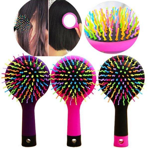 Portable Brush Comb Hair Care Styling Massage HairBrush Anti-static Detangling