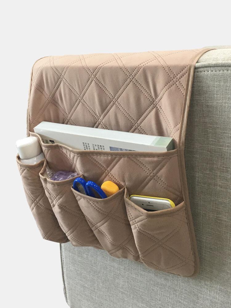 Anti-Rutsch-Sofa Stuhl Armlehne 5 Pocket Organizer Couch Fernbedienung Aufbewahrungstasche Magazin Kleinigkeiten Aufbewahrung Taschen