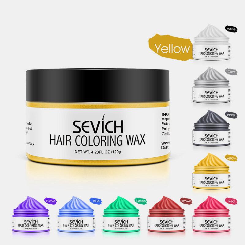 9 Farben Einweg-Haarfärbemittel Wachs Unisex Quick Styling Farbe Haarton DIY Dye Cream