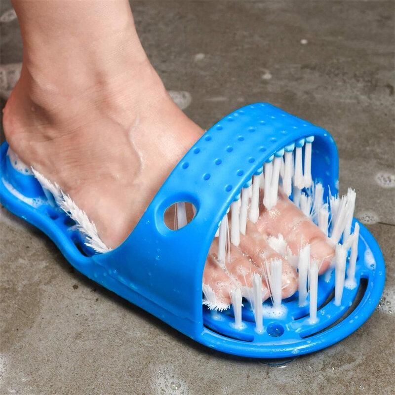 Chinelos de banho Escova Massagem Sapatos de banho Foot Escova Chinelos de banho Chinelos de massagem para pés