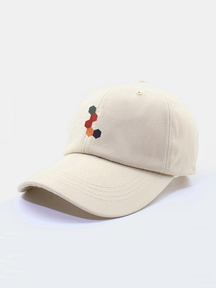 Unisex Cotton Multicolor Color-block Pattern Printing Simple Sunscreen Baseball Caps