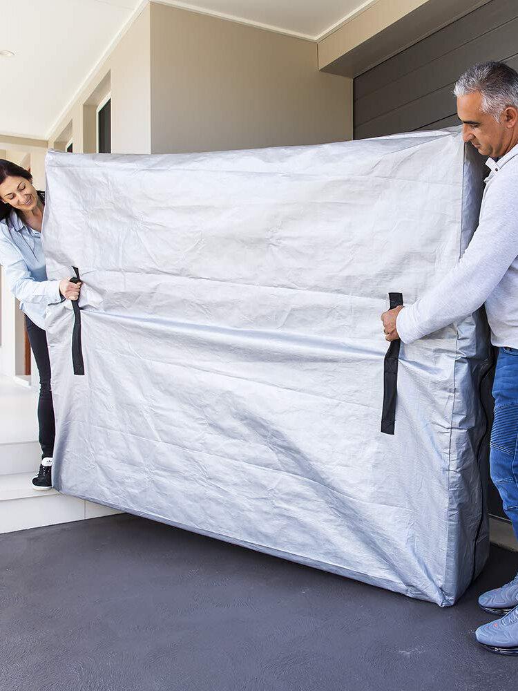 Abnehmbare Matratzentasche Innen- und Außenbewegung Wasserdichter wiederverwendbarer Sonnenschutz-Matratzenbezug