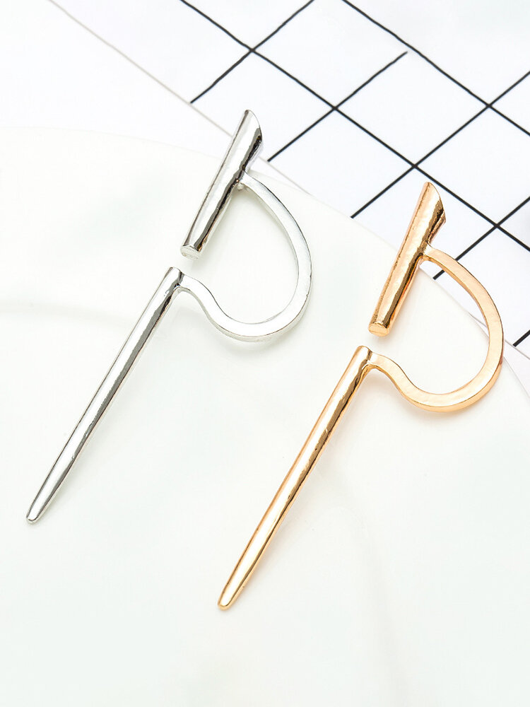 Creative Punk Silver Gold Color Women Earrings No Piercing Ear Clip Party Costume Jewelry for Women