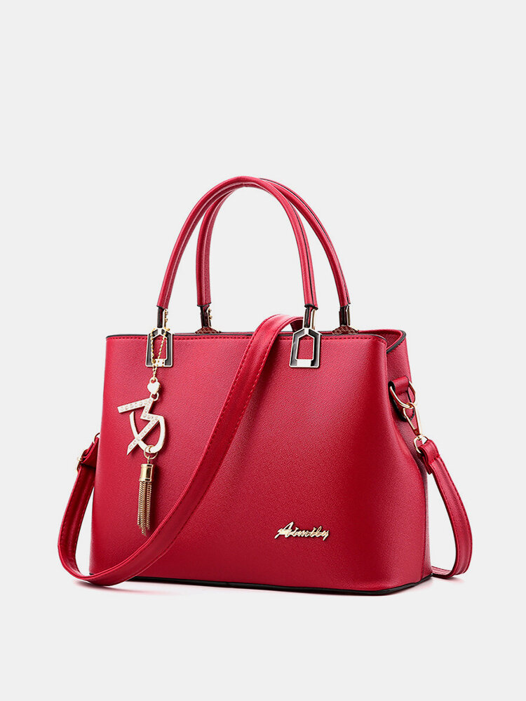 Women Solid Large Capacity Casual Crossbody Bag Shoulder Bag