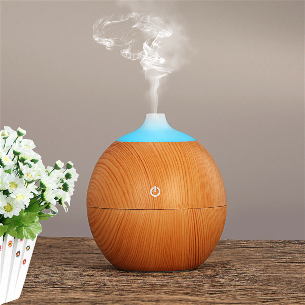 Air Ultrasonic Humidifier Essential Oil Diffuser Aroma Aromatherapy Purifier Intelligent LED