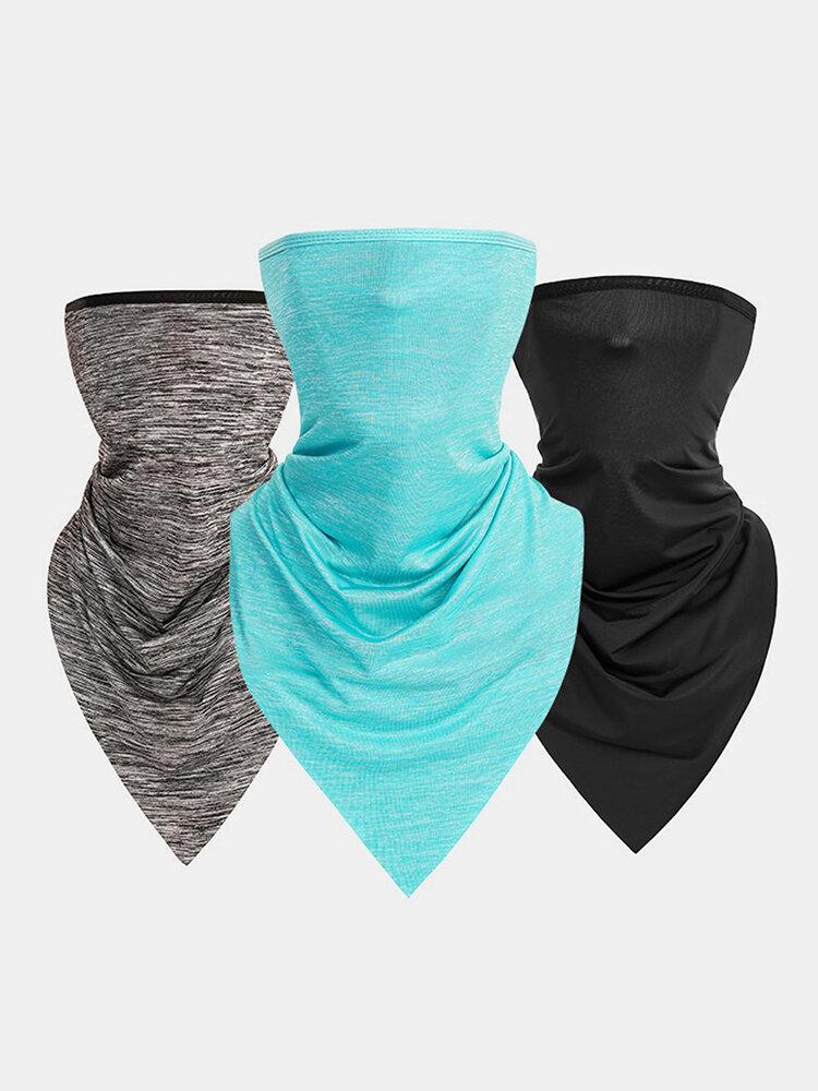 Ice Silk Triangle Scarf Summer Thin Turban Sunscreen Scarf Mask