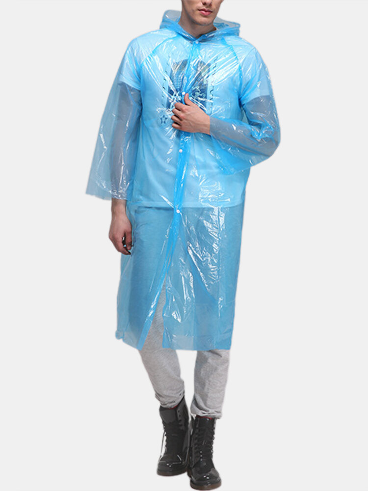 PE Body Protective Suit PE Disposable Dust-proof & Water-proof Hiking Raincoat