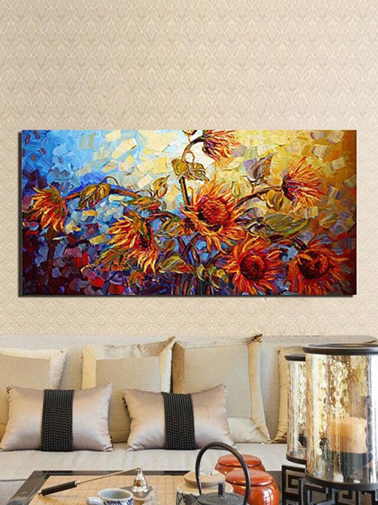 60 * 120 CM sin marco Colorful flores artista moderno Oil pintura lienzo decoración de la pared