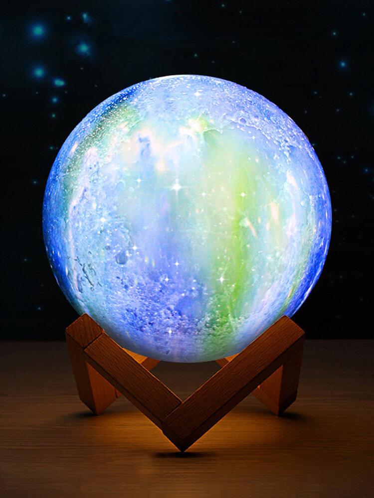 3D-Druck Moon Lamp Space LED Nachtlicht Fernbedienung USB Charge Beste Geschenke