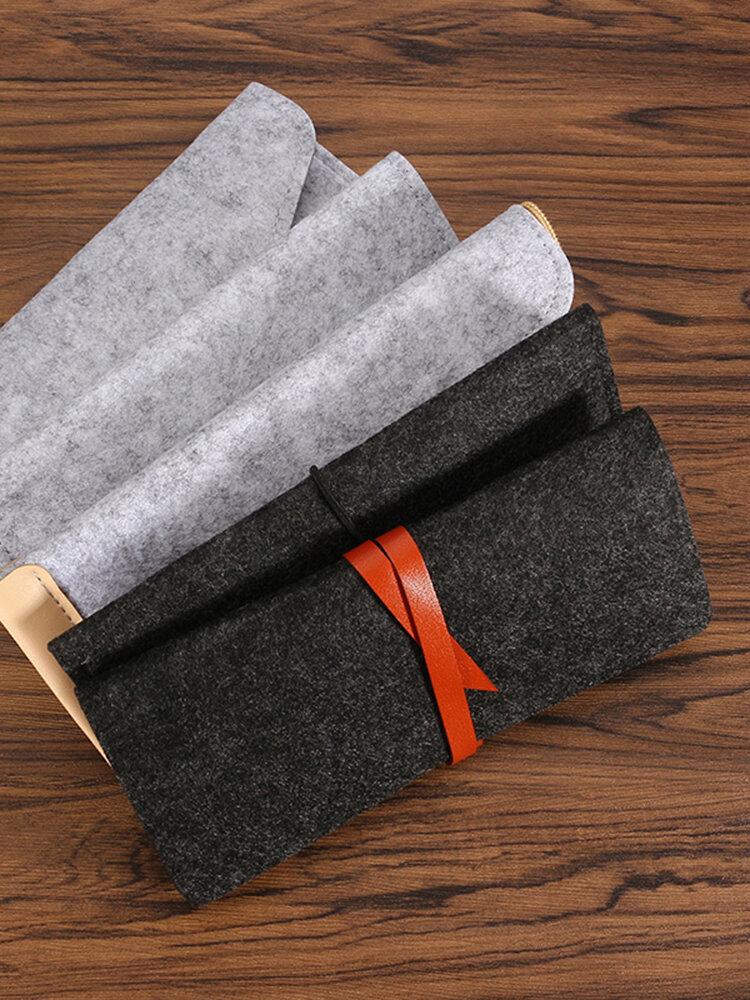 クリエイティブファッション多機能ウール鉛筆ペンケース文房具ポーチ化粧品化粧大きなバッグ