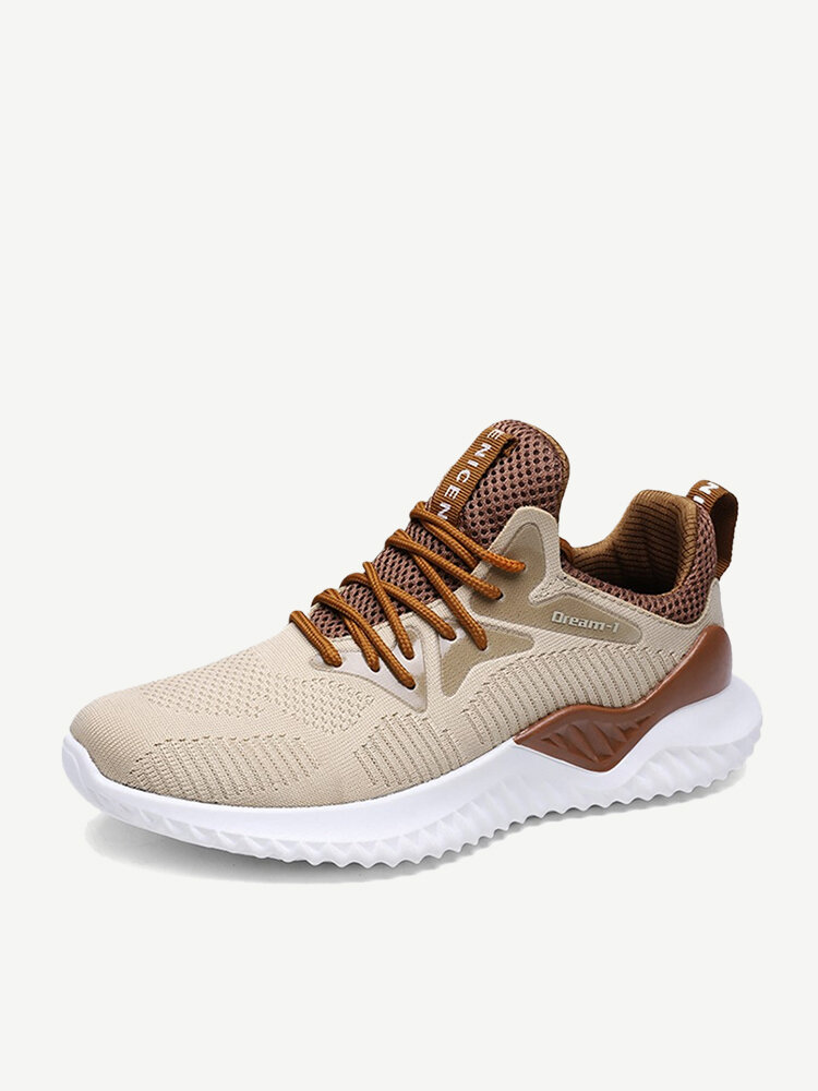Men Knitted Fabric Reeathable Soft Light Weight Running Shoes