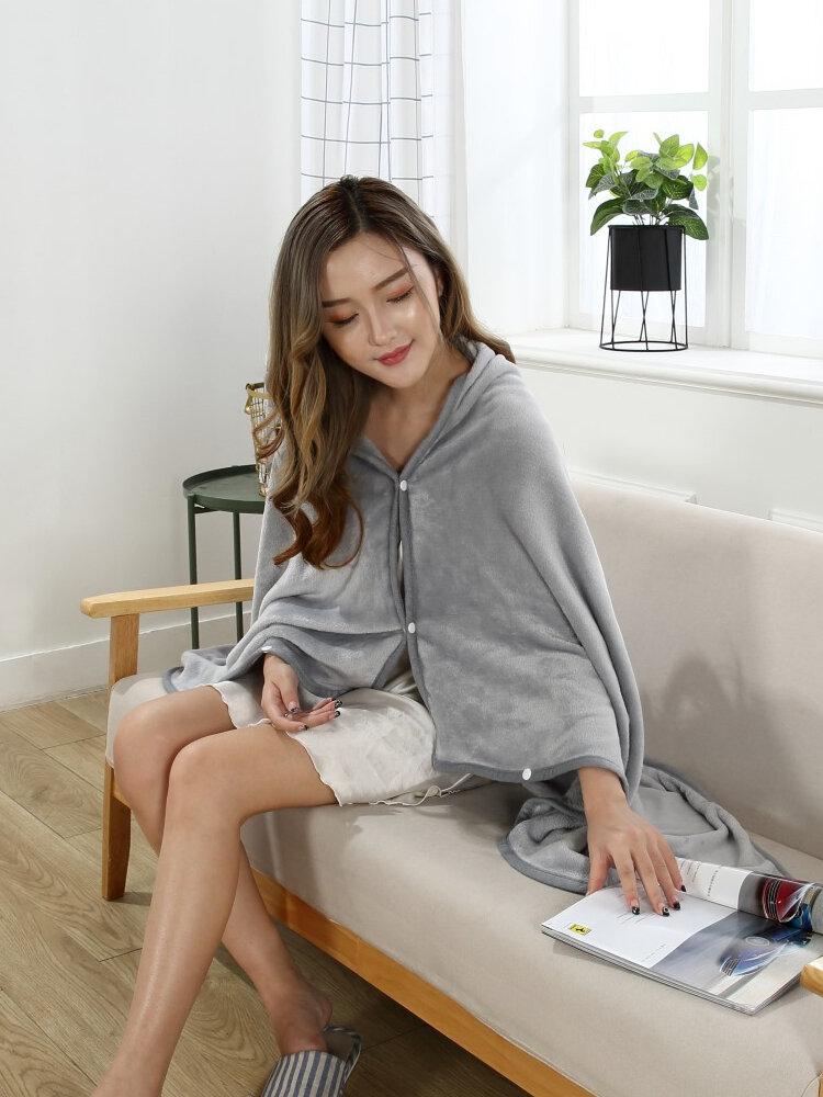 Luxury Flannel Winter  Wearable Blanket Cloak Sofa Lazy  TV Blanket Towel