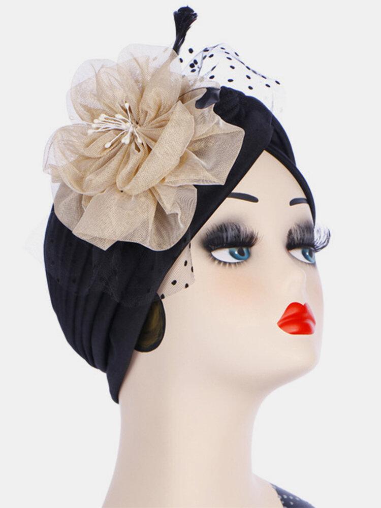 S musulman foulard fleur bonnet bonnet multicolore capuche capuche - Newchic - Modalova