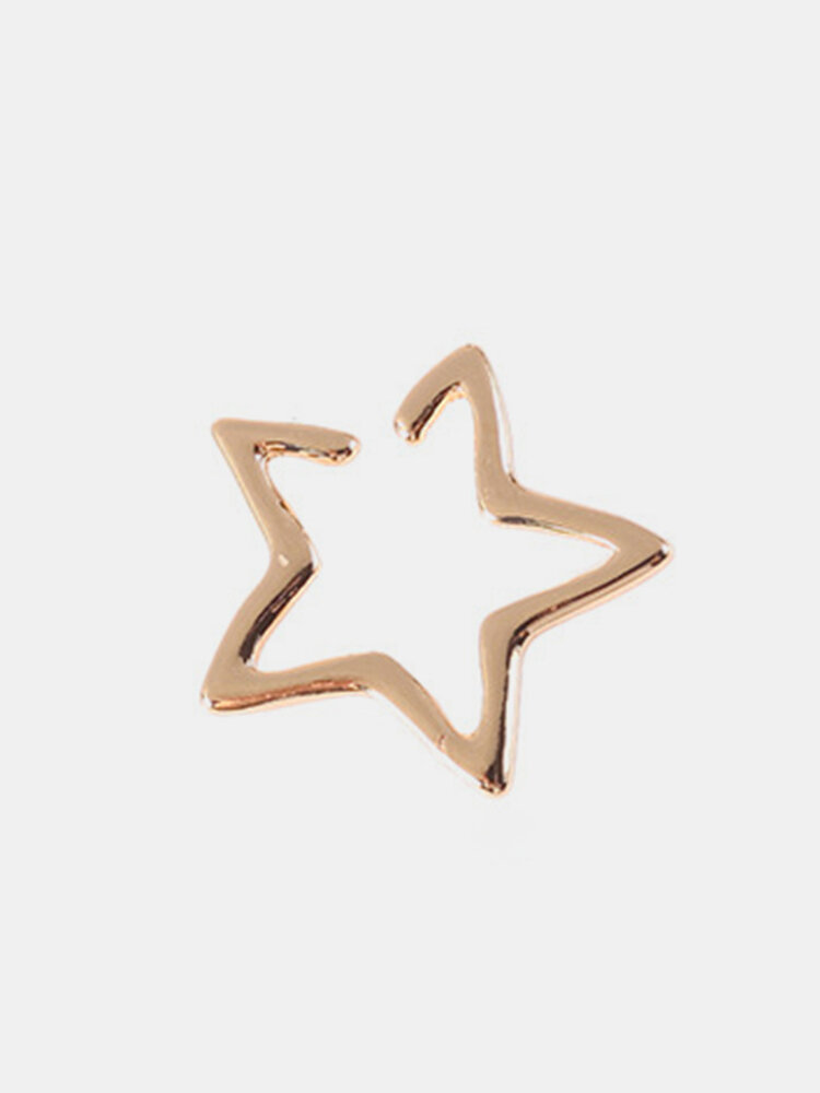 Cute Ear Stud Earrings 1PC Hollow Open Alloy Star Earrings Fashion Jewelry for Women