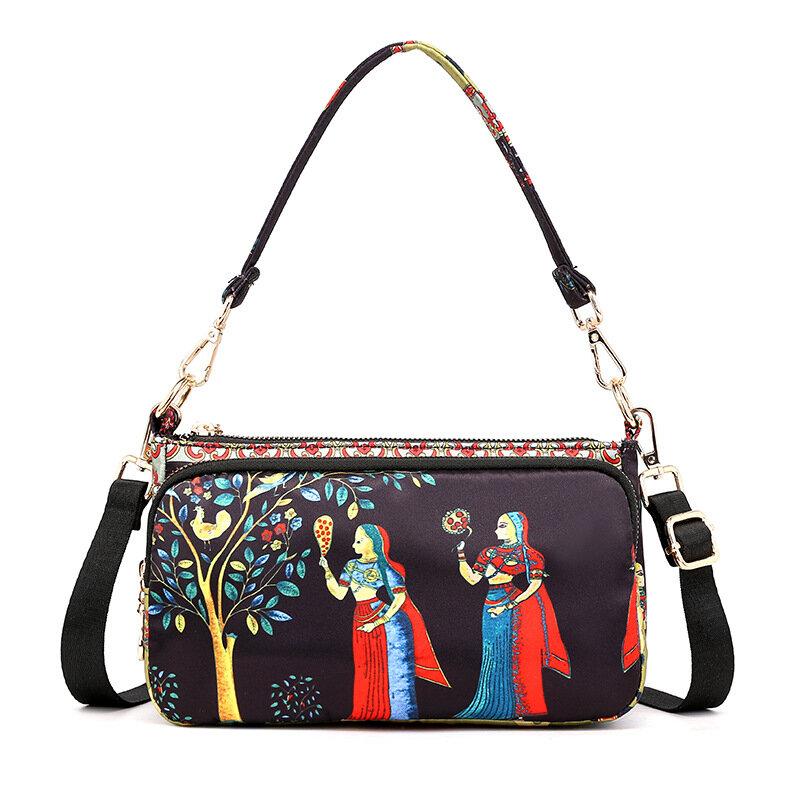 Damen Bohemian Print Crossbody Taschen Handtaschen mit großer Kapazität