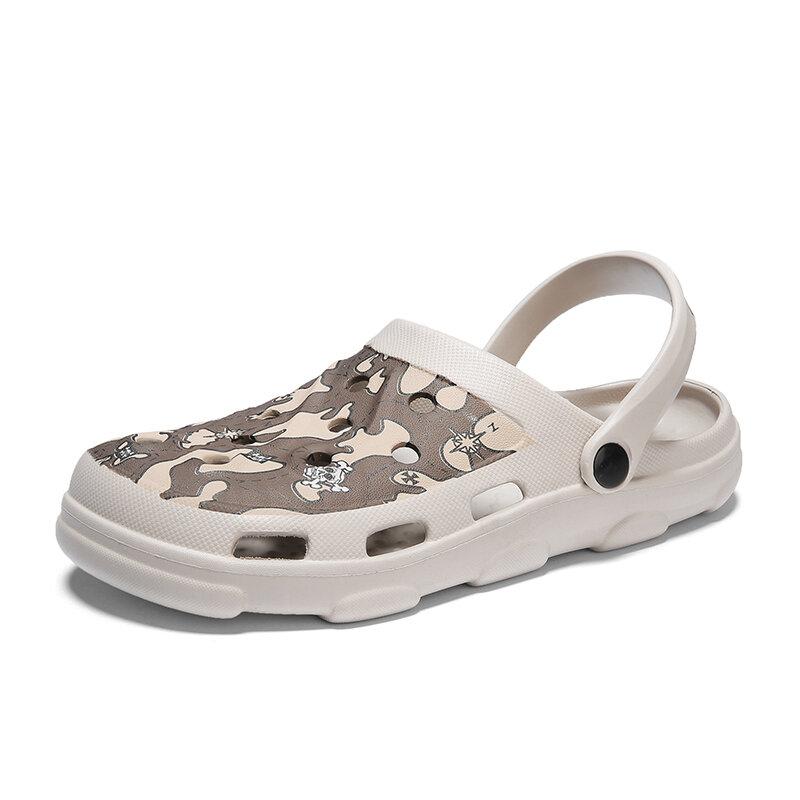 Men EVA Hole Light Weight Slippers Beach Casual Sandals