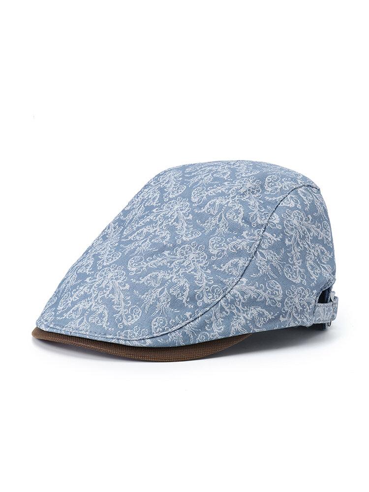 Men Women Print Retro Beret Cap Duck Hat Sunshade Casual Outdoors Peaked Forward Cap