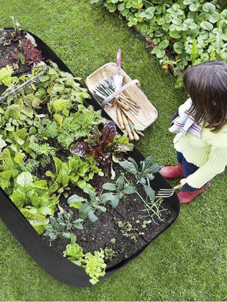 庭の植物のベッド4/8穴の長方形の植わる容器の植栽バッグプランターの鉢植え