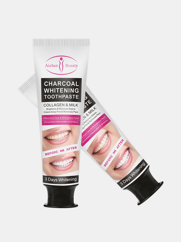100g Mint Bamboo Charcoal Toothpaste Remove Bad Breath Smoke Stains Gum Care Fluoride-Free Toothpaste