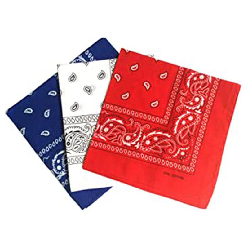 Coton unisexe motif Paisley Bandanas écharpe carrée cheveux tête cou couvre-chef