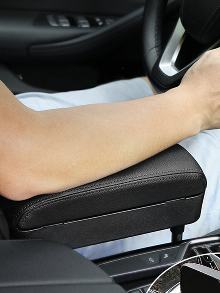 Car Charging Armrest Box Pad Automatic Telescopic Storage Box Central Control Elbow Support Holder