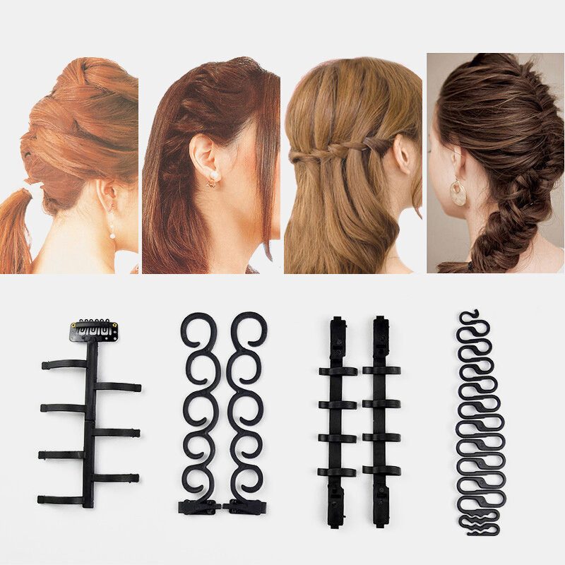 Lady French Home Use Hair Braiding Tool Twist Hair Braider Portable DIY Hairdressing Styling Tool