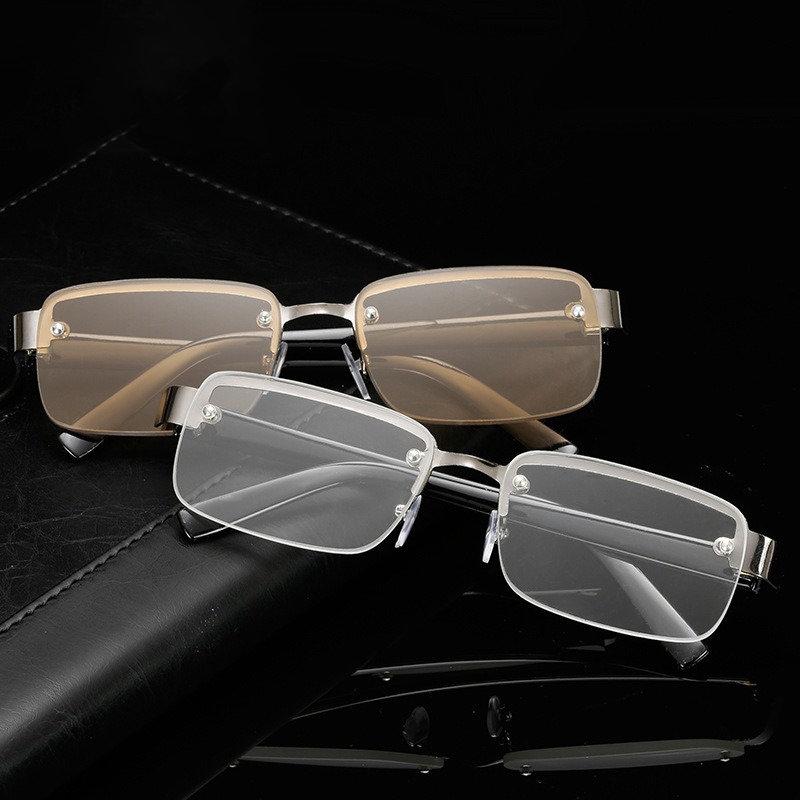 Classic Reading Glasses Frameless HD Reading Glasses For Old Man Eye Health Care