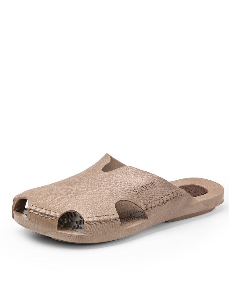 Men Closed Toe Soft Casual Backless Beach Water Garden Sandals