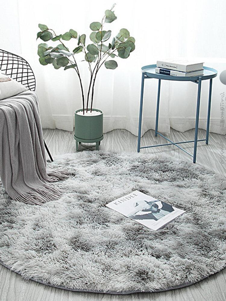 Alfombra nórdica con degradado de teñido anudado, cesta colgante redonda, silla Yoga, alfombrilla para el suelo de la sala de estar